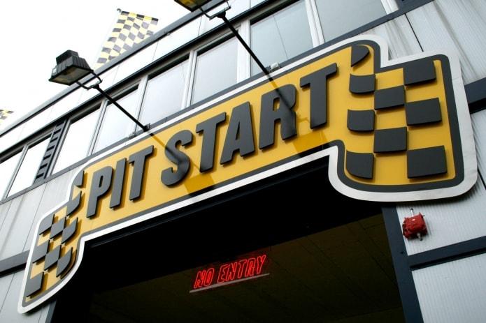 Self Service Garages : Pit start branding perfect day st john s